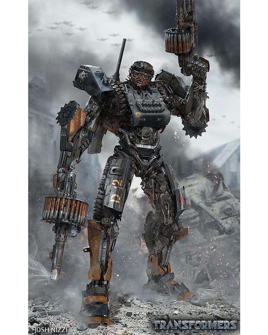 Josh Nizzi Transformers The Last Knight Wwii Hot Rod Concept Art Transformers News Tfw2005
