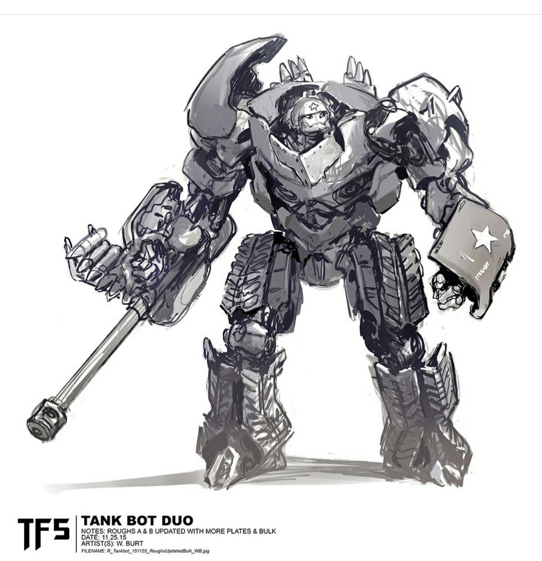 Transformers Last Knight Tank Duo Concept Art