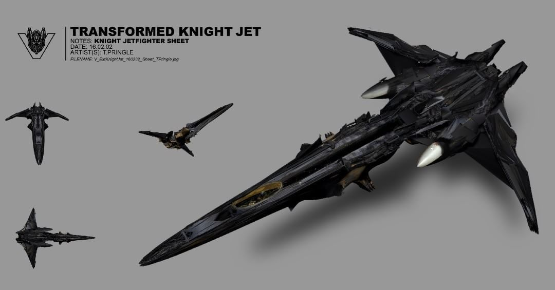 Transformers The Last Knight Megatron Jet Fighter Concept