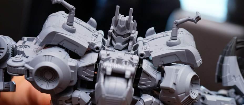 Power Of The Primes Dinobot Combiner Volcanicus Prototype In-Hand Pictures