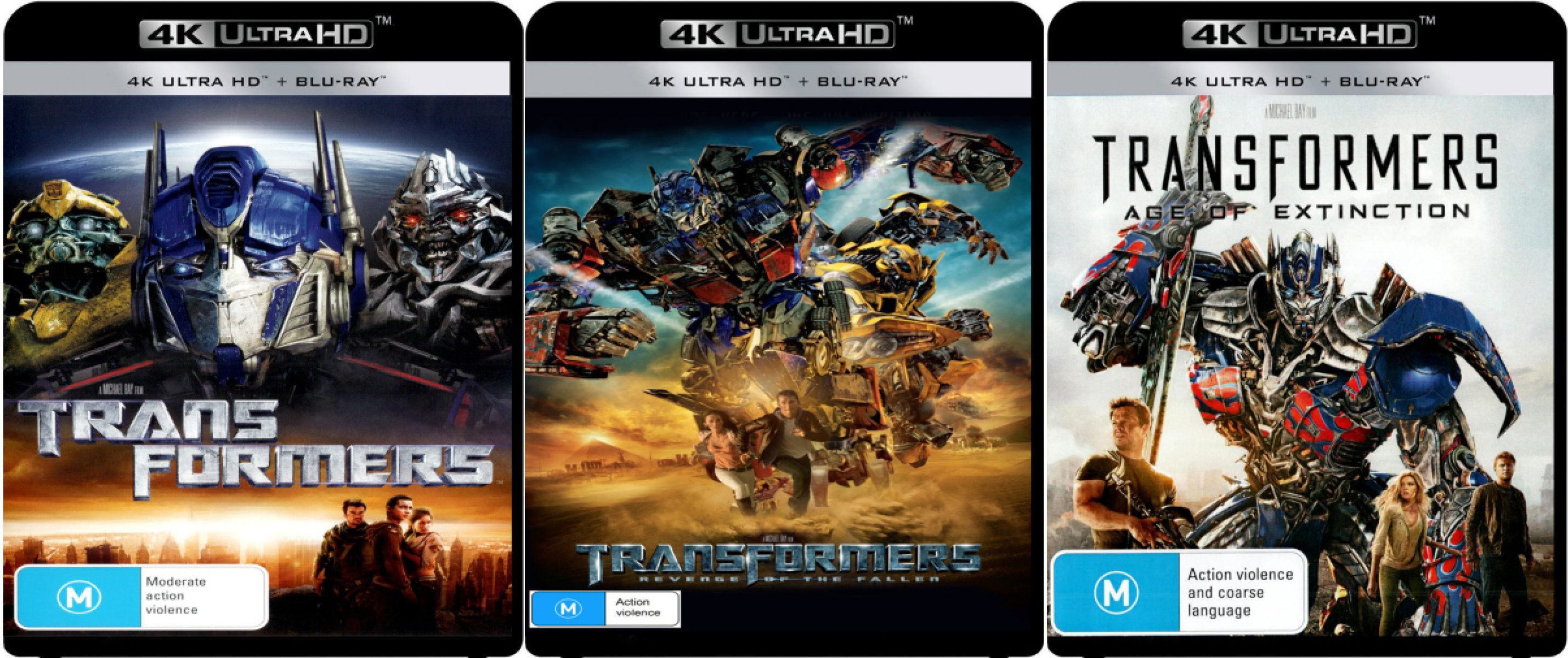 transformers all 4 live-action films coming to 4k blu-ray in