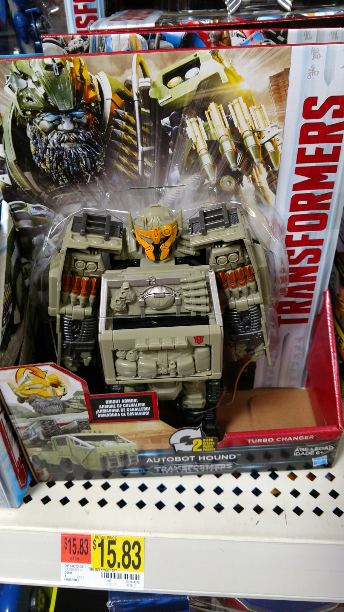 transformers the last knight armor turbo changer autobot hound spotted at us retail. Black Bedroom Furniture Sets. Home Design Ideas