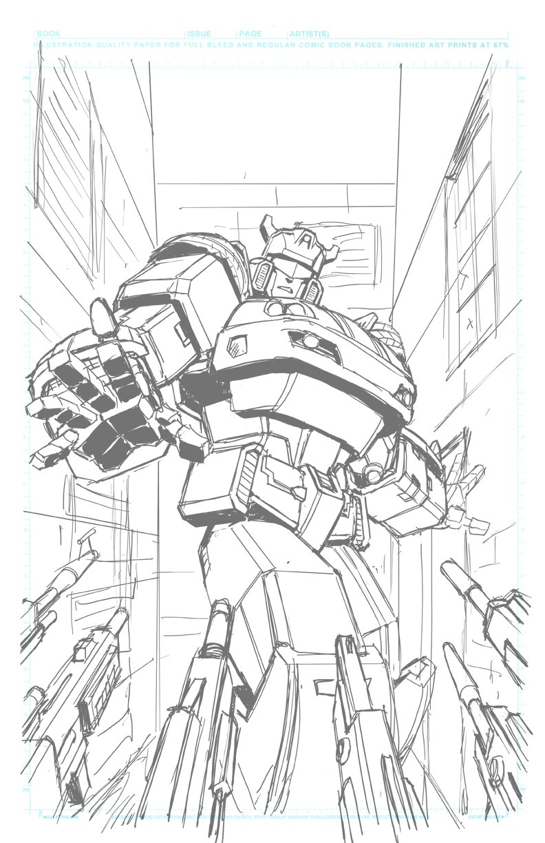 idw transformers  optimus prime  12 main cover lineart and