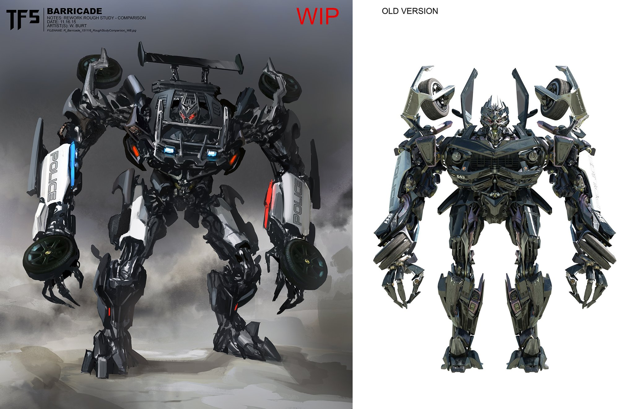 Car Trader Online >> Transformers The Last Knight Concept Art: Cybertron, Barricade And Daytrader - Transformers News ...