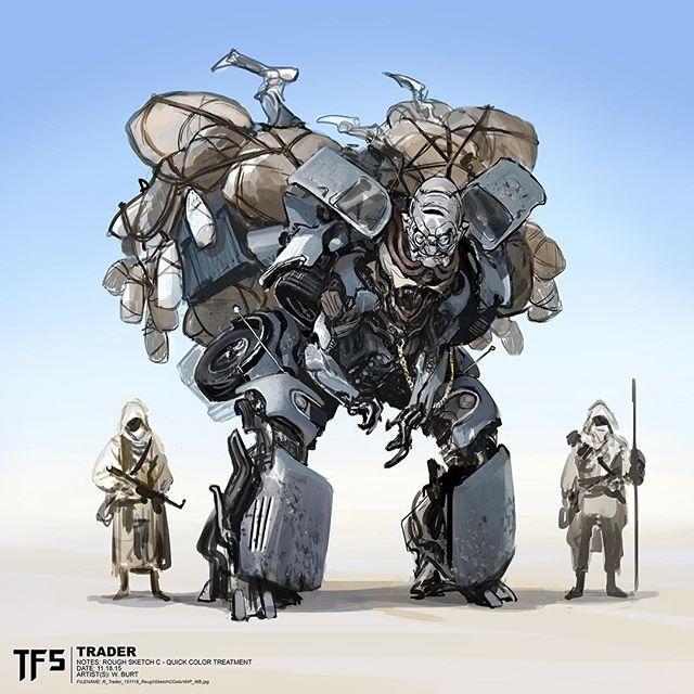 Concept Art des Transformers dans les Films Transformers - Page 7 The-Last-Knight-Daytrader-Concept-Art-By-Wesley-Burt