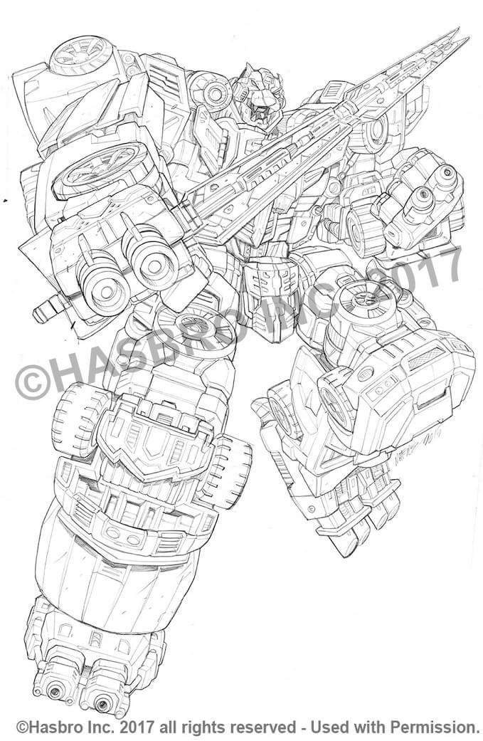 Marcelo Matere S Combiner Wars Package Art Pencils Armada