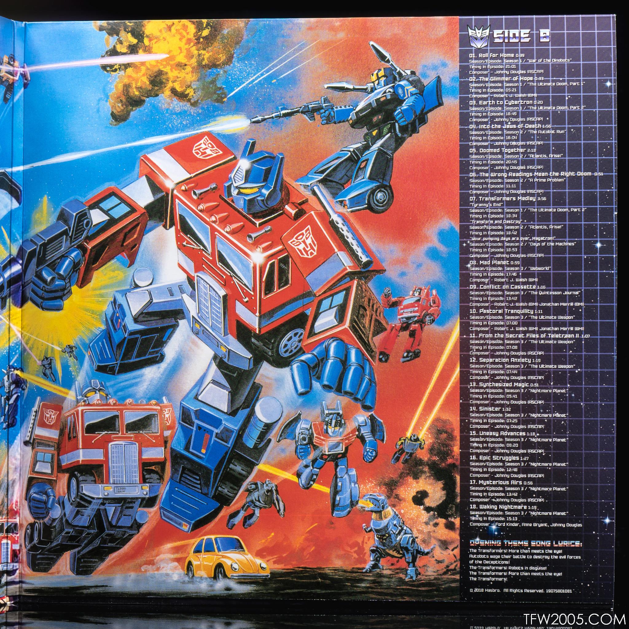 Transformers G1 Soundtrack Vinyl Transformers G1