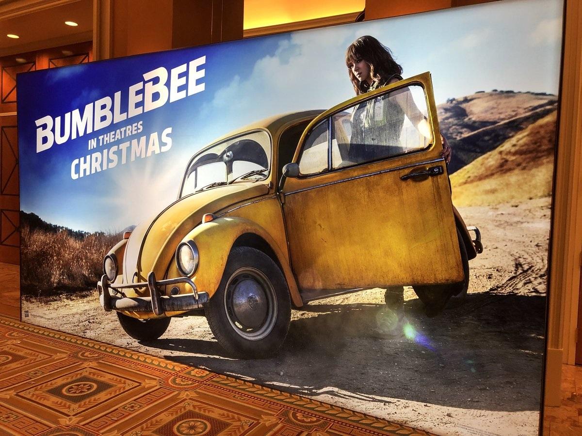transformers bumblebee movie teaser trailer and poster set to debut at cinemacon 2018. Black Bedroom Furniture Sets. Home Design Ideas