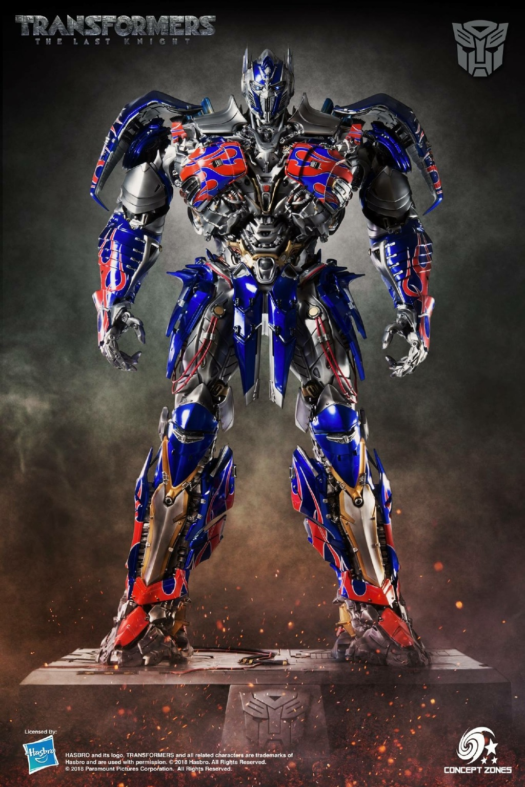 Concept Zones The Last Knight Optimus Prime Statue ...