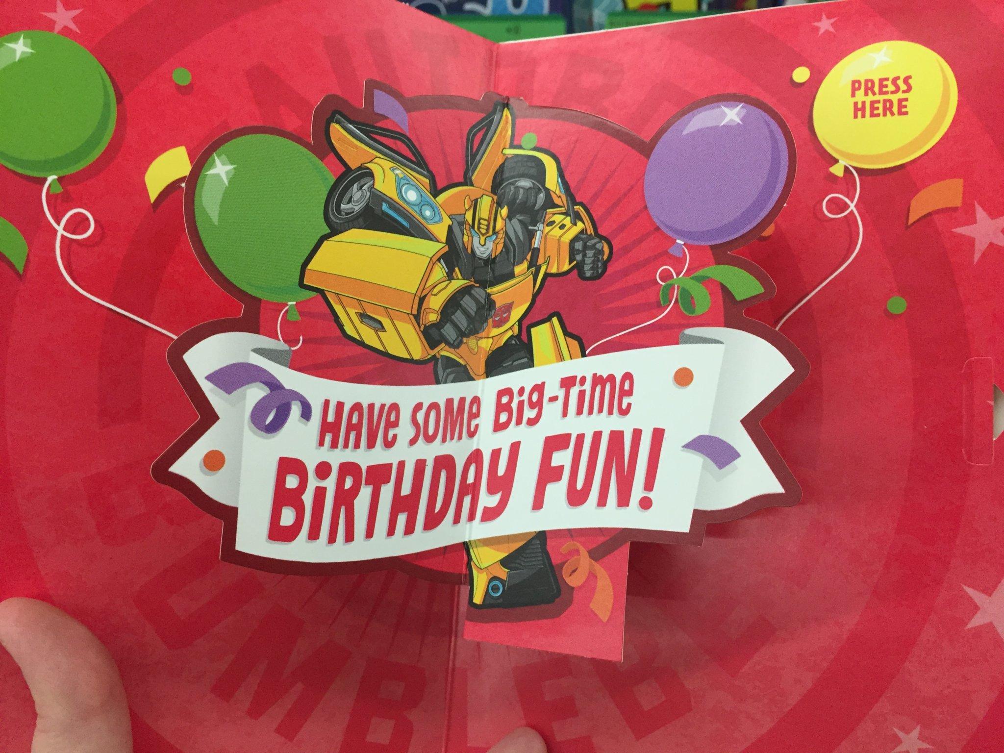 Transformers Birthday Card With Evergreen Designs Found At Walmart