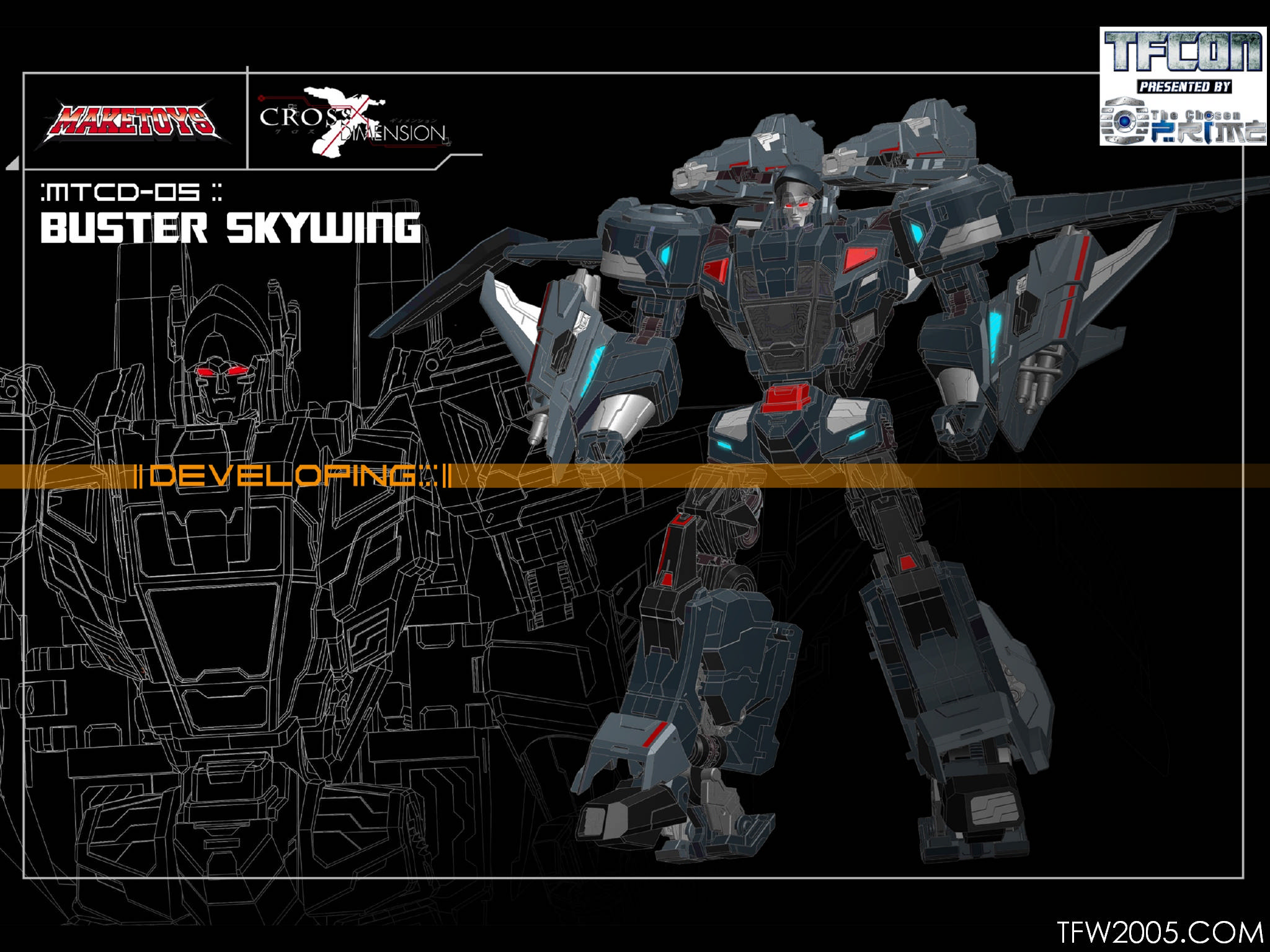 maketoys crossdimension buster skywing skyfire tfw2005 the