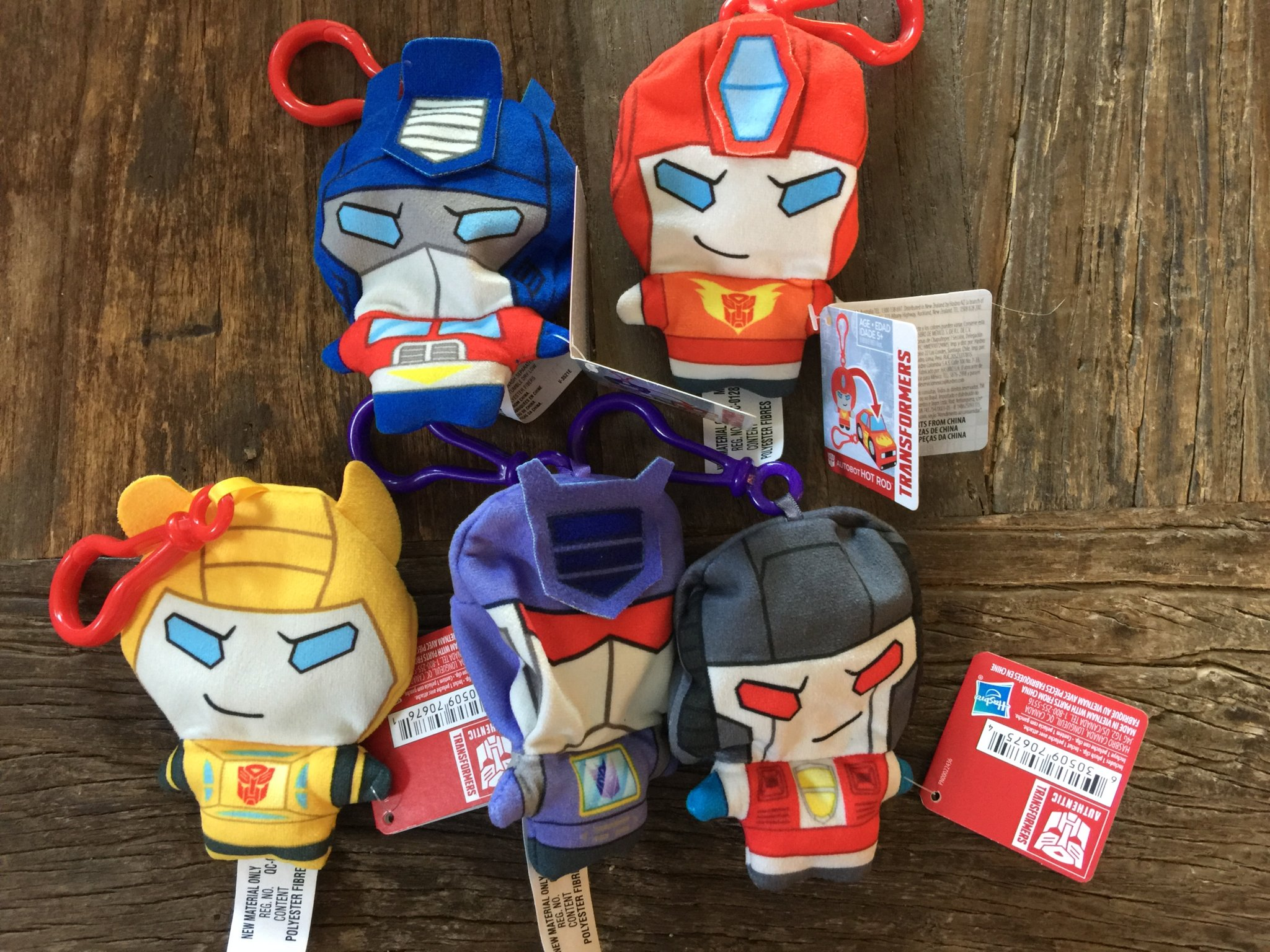Transformers: Clip Bots Plushes Out At US Retail And In