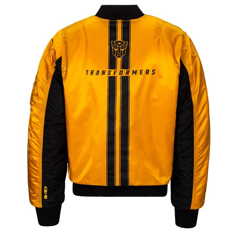 Hasbro X Alpha Industries Ma Transformers Flight Jacket Golden Yellow Back