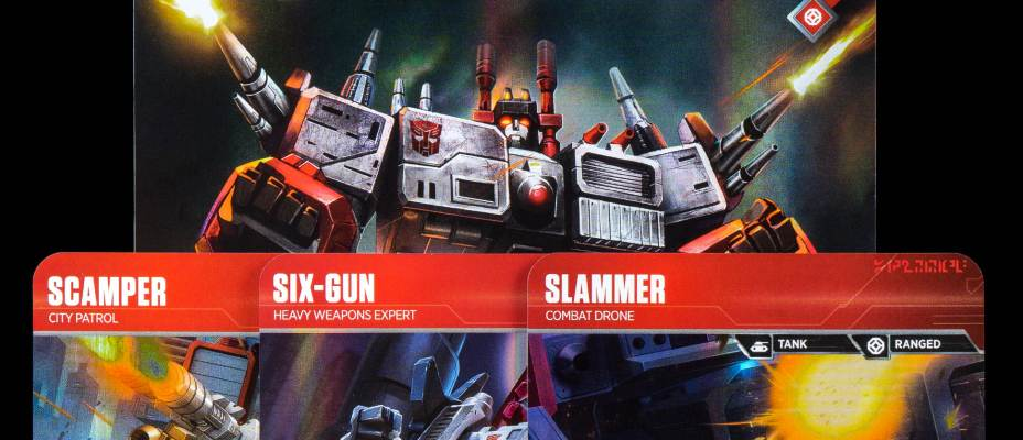 Metroplex Deck In Hand - Transformers Trading Card Game