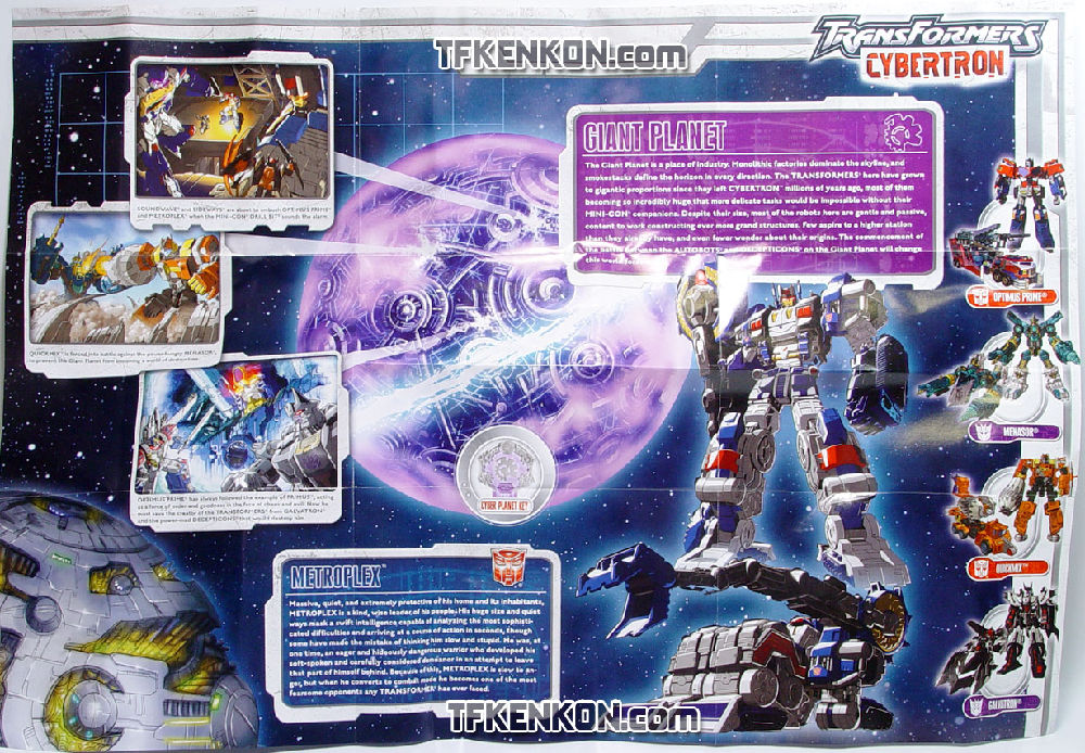 Transformers Cybertron SPEED PLANET MAP catalog poster 2005