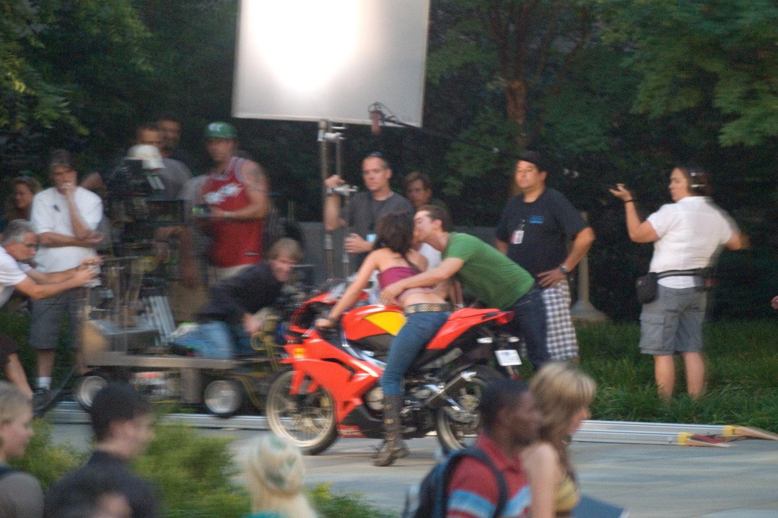 Transformers Rotf Filming Sam Mikaela Kiss High