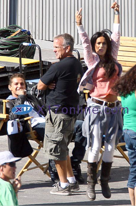 Megan Fox and Shia LaBeouf Goof Around on Set ...