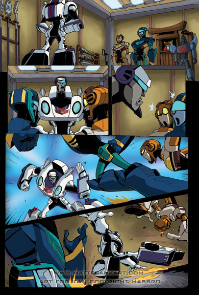 Two Preview Pages from Transformers Animated Jetfire