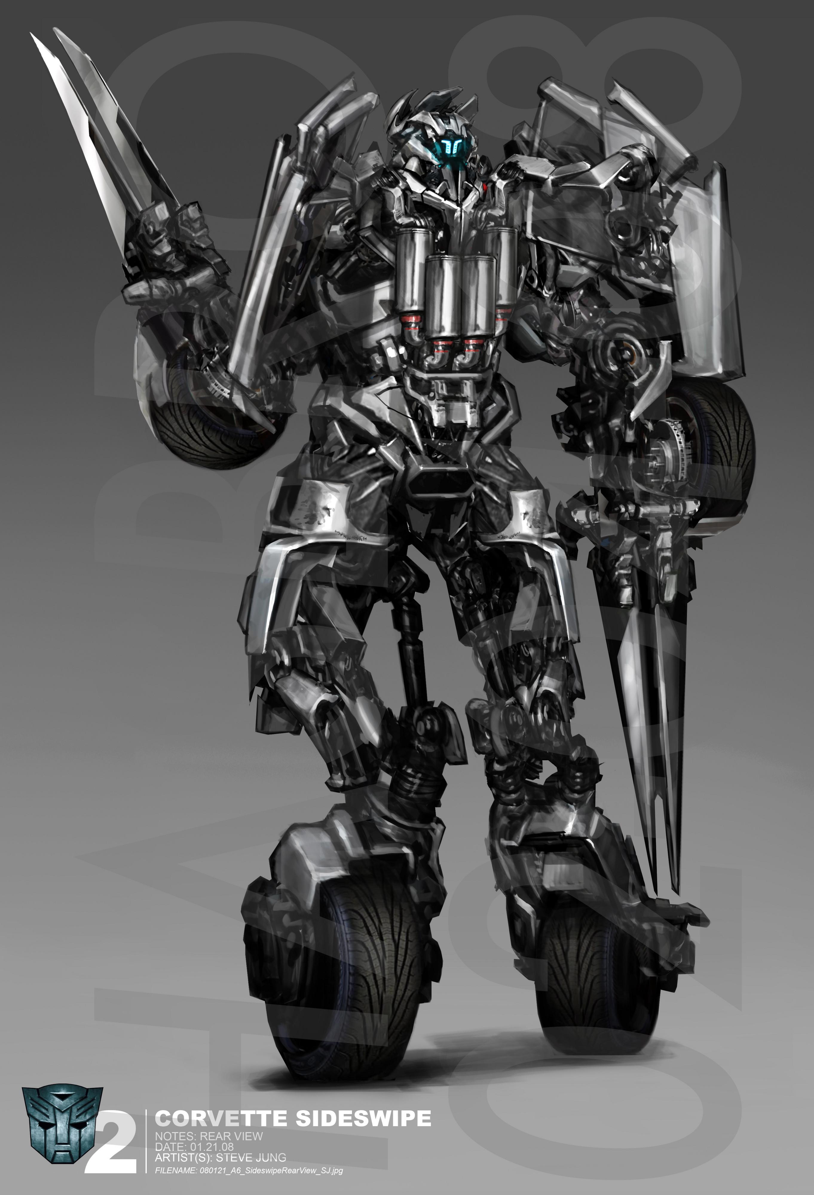 Revenge of the Fallen Sideswipe Concept Art - Transformers