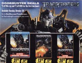 Best Buy Midnight Release For Transformers Revenge Of The Fallen On Dvd And Blu Ray Transformers News Tfw2005