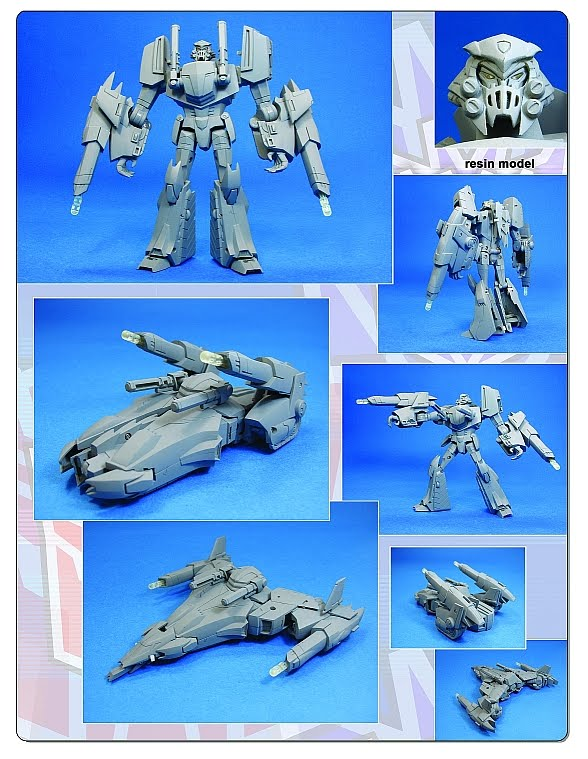 Canceled Transformers Animated Triple Changer Megatron Resin