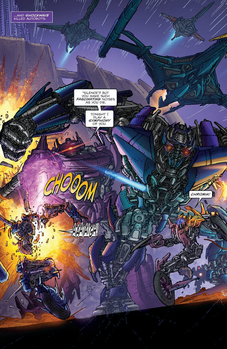 3 Of Swords Rx Reversed As Advice: Transformers: Rising Storm Issue #2 Five-Page Preview