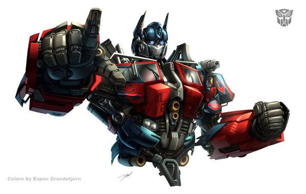 Optimus Prime doing his best 'Uncle Sam' impression.