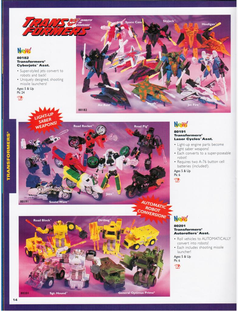 Toy Fair 1995 Catalog Scans Featuring Unreleased Transformers