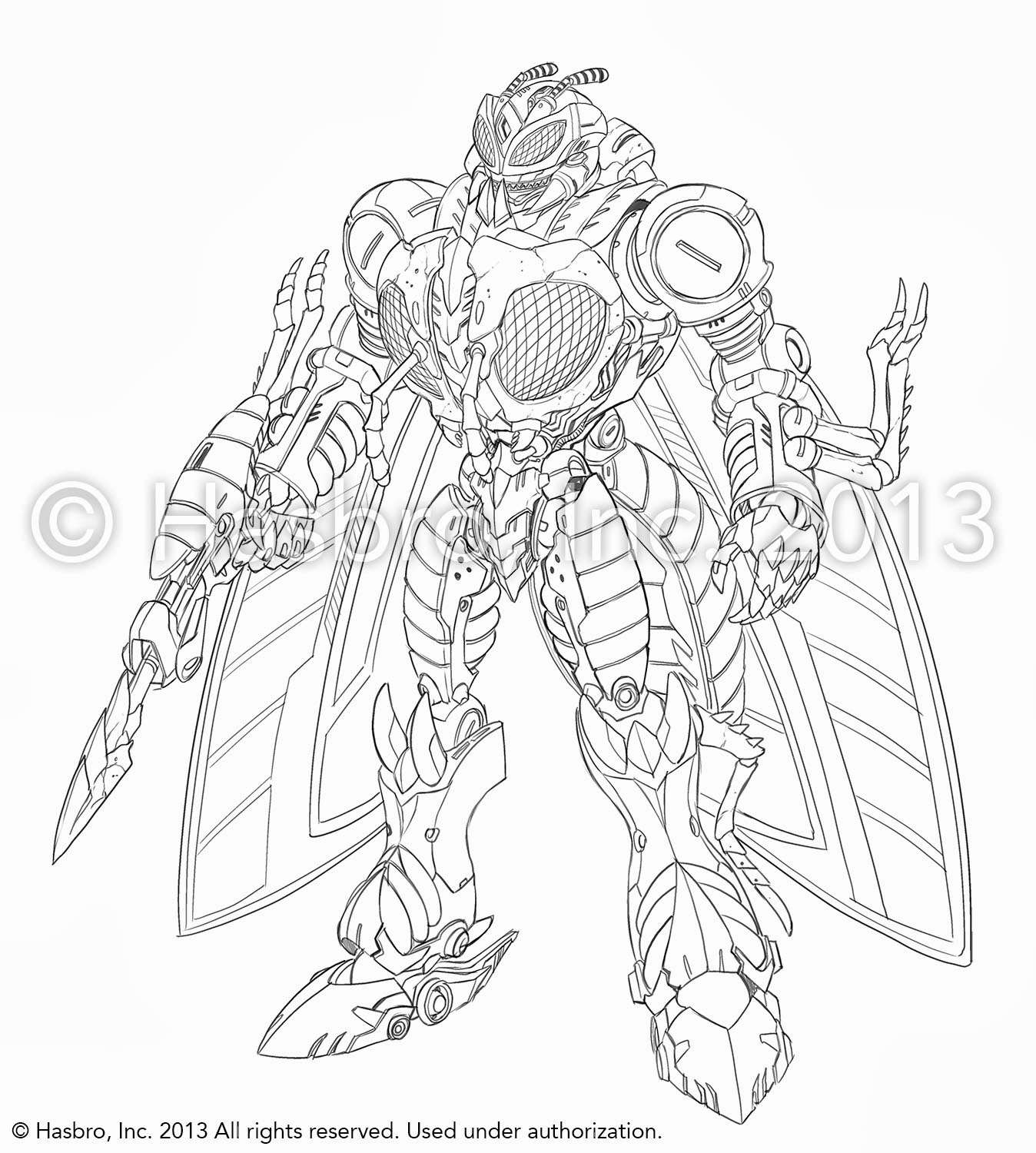 Generations Waspinator Design Sketches Transformers News