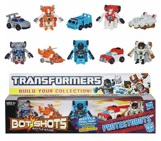 Bot shots protectobots five pack images transformers for Shot bot lighting