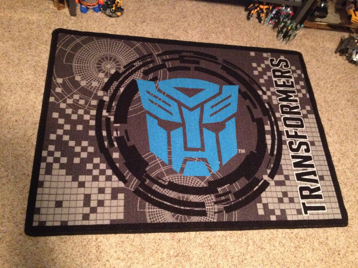 Transformers Area Rug And Bumblebee Piggy Bank