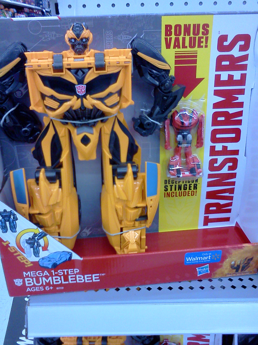 Transformers 4 Age of Extinction Mega 1-Step Bumblebee /& Stinger Figures Walmart