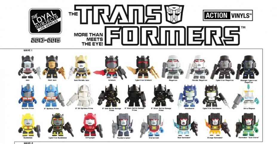 Loyal Subjects Action Vinyls Transformers Checklist Poster