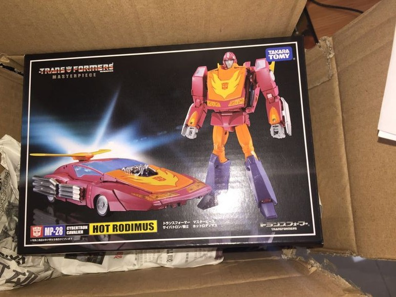 """Transformers Masterpiece MP28 Hot Rodimus 7/"""" Action Figure New in Box"""