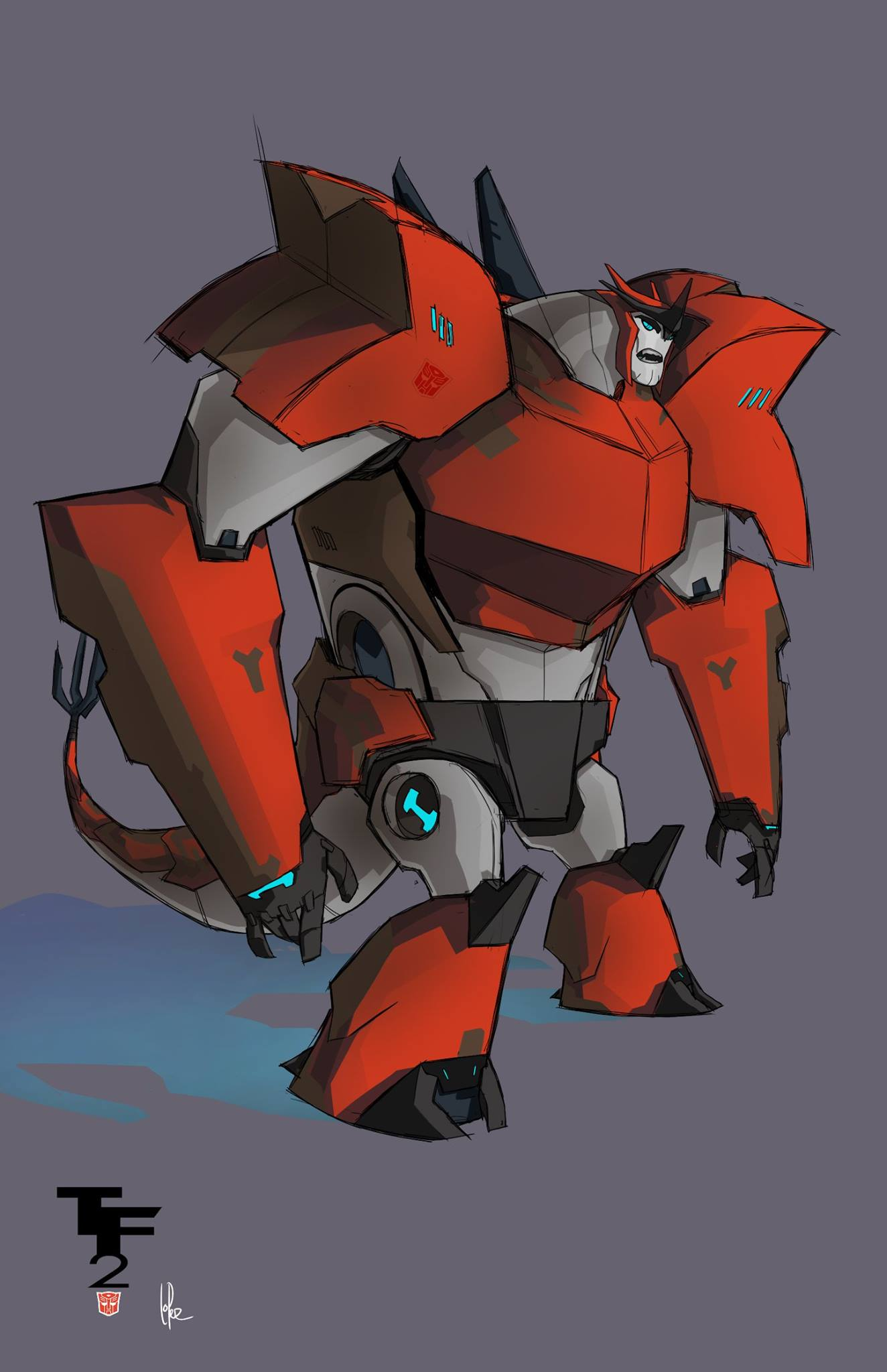 Transformers Robots In Disguise Grimlock Concept Art