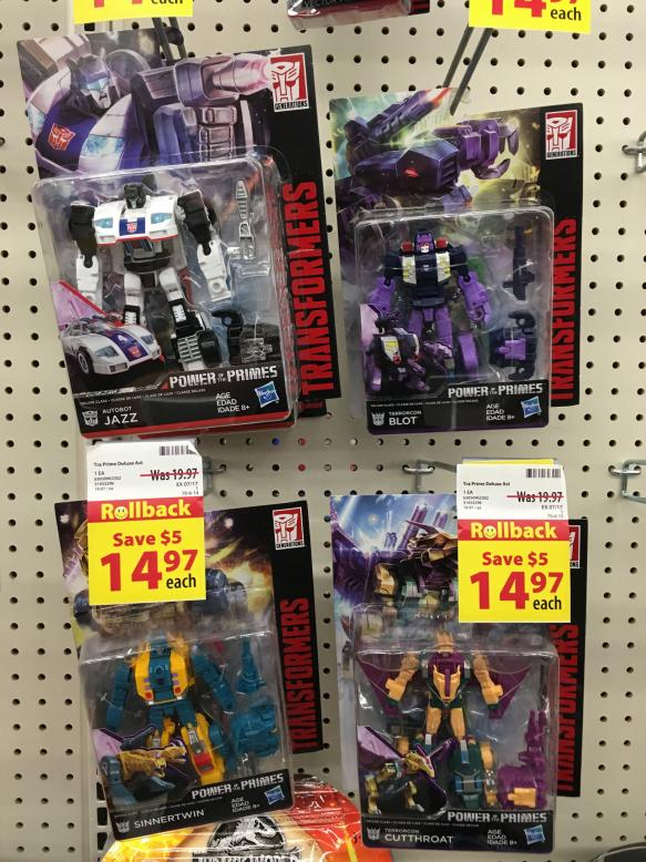 Transformers Power of Primes Deluxe Wave 3 Set Cutthroat Blot Sinnertwin Figures