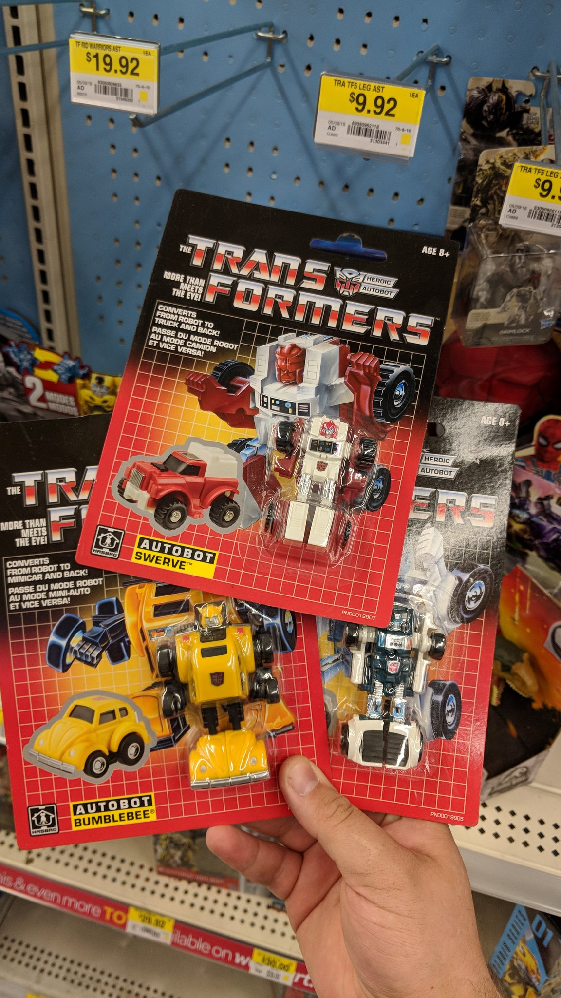 Walmart Exclusive G1 Minibots In-Hand Images - Bumblebee Now Officially Licensed VolksWagen ...
