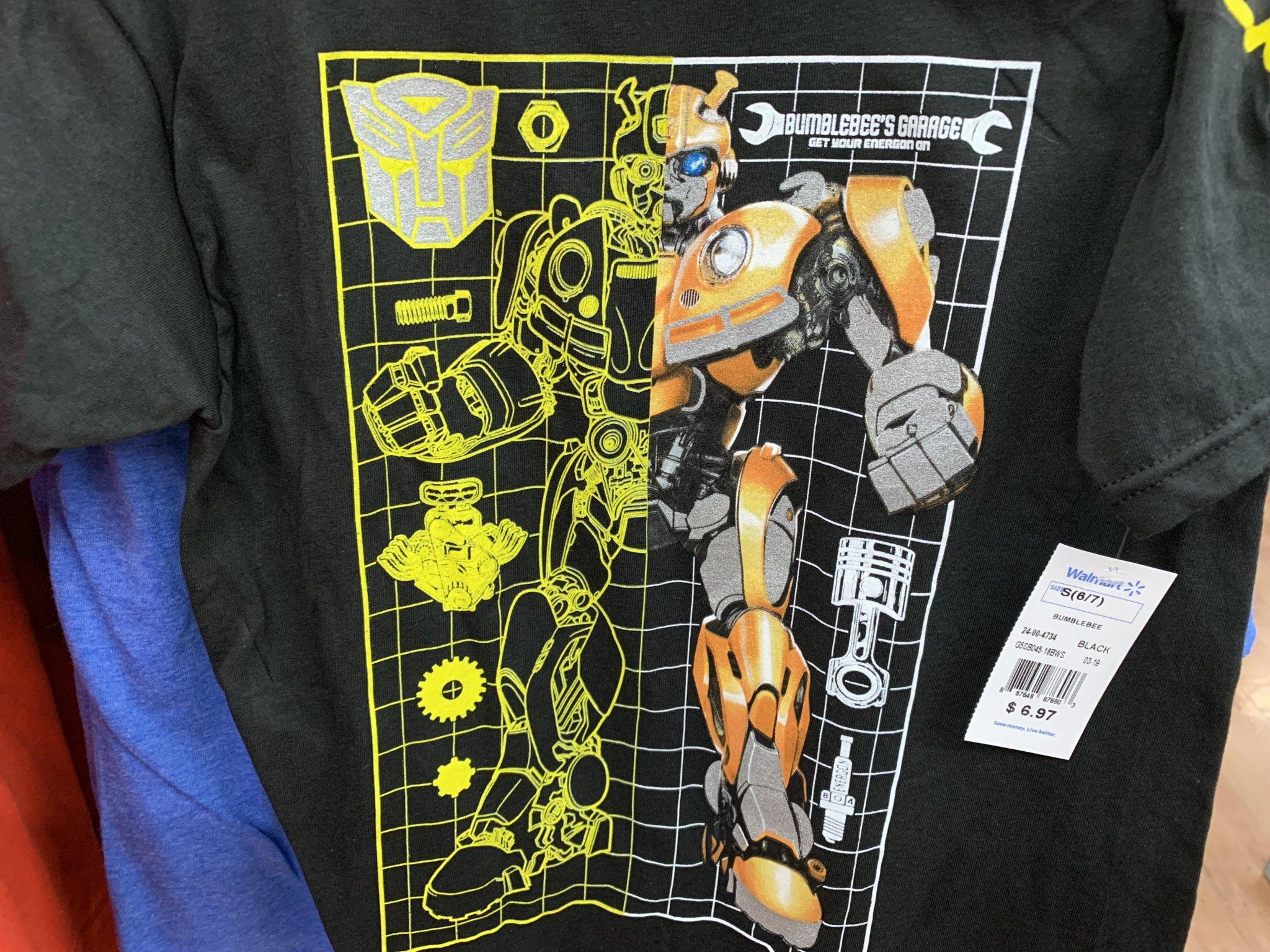 "78cfa11b Bumblebee Movie ""Bumblebee's Garage"" Kids T-Shirt Found At Walmart ..."