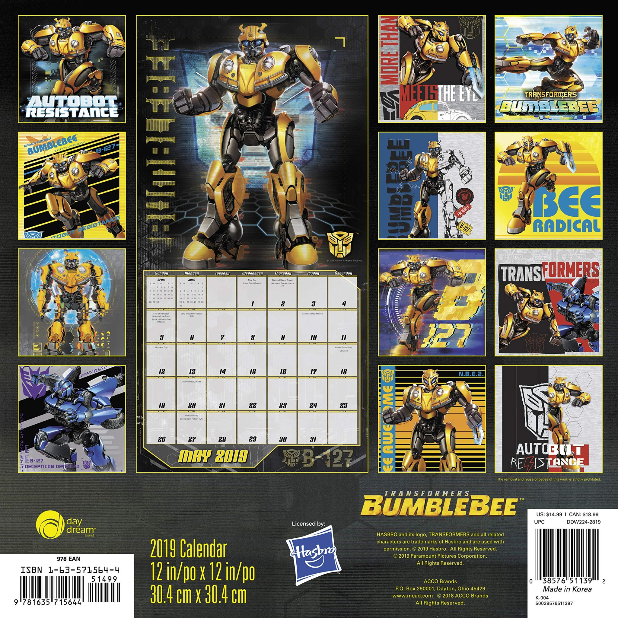 Brand new transformers bumblebee promo art from 2019 wall calendar transformers news tfw2005 - Images of bumblebee from transformers ...