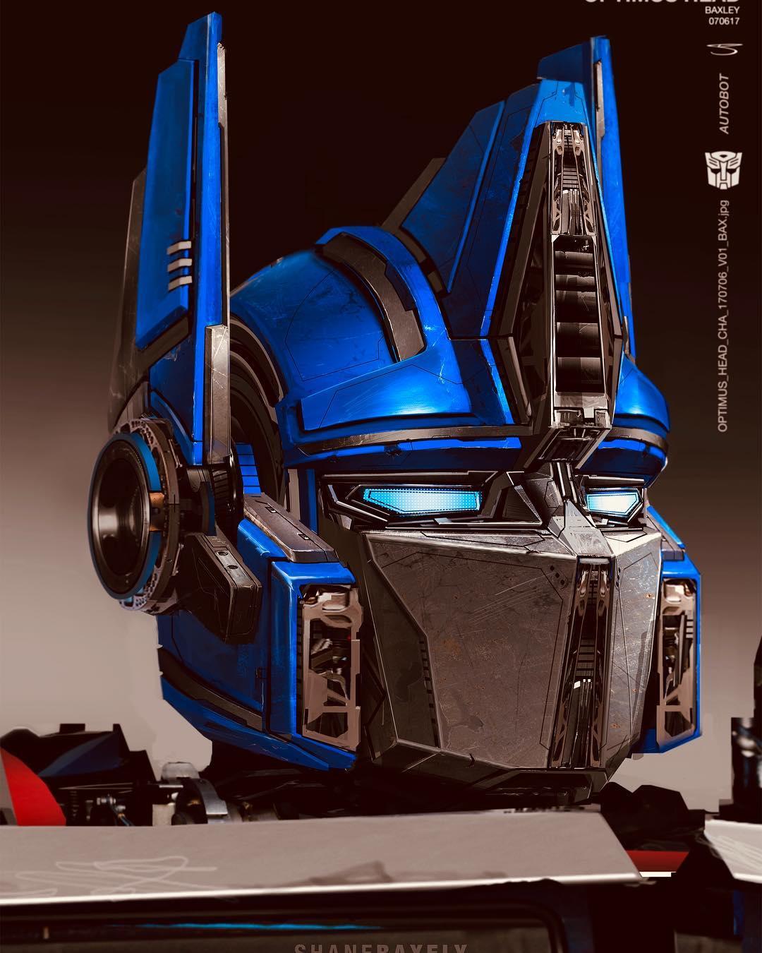 Bumblebee Movie: Optimus Prime Heads Concept Art By Shane ...  Bumblebee Movie...