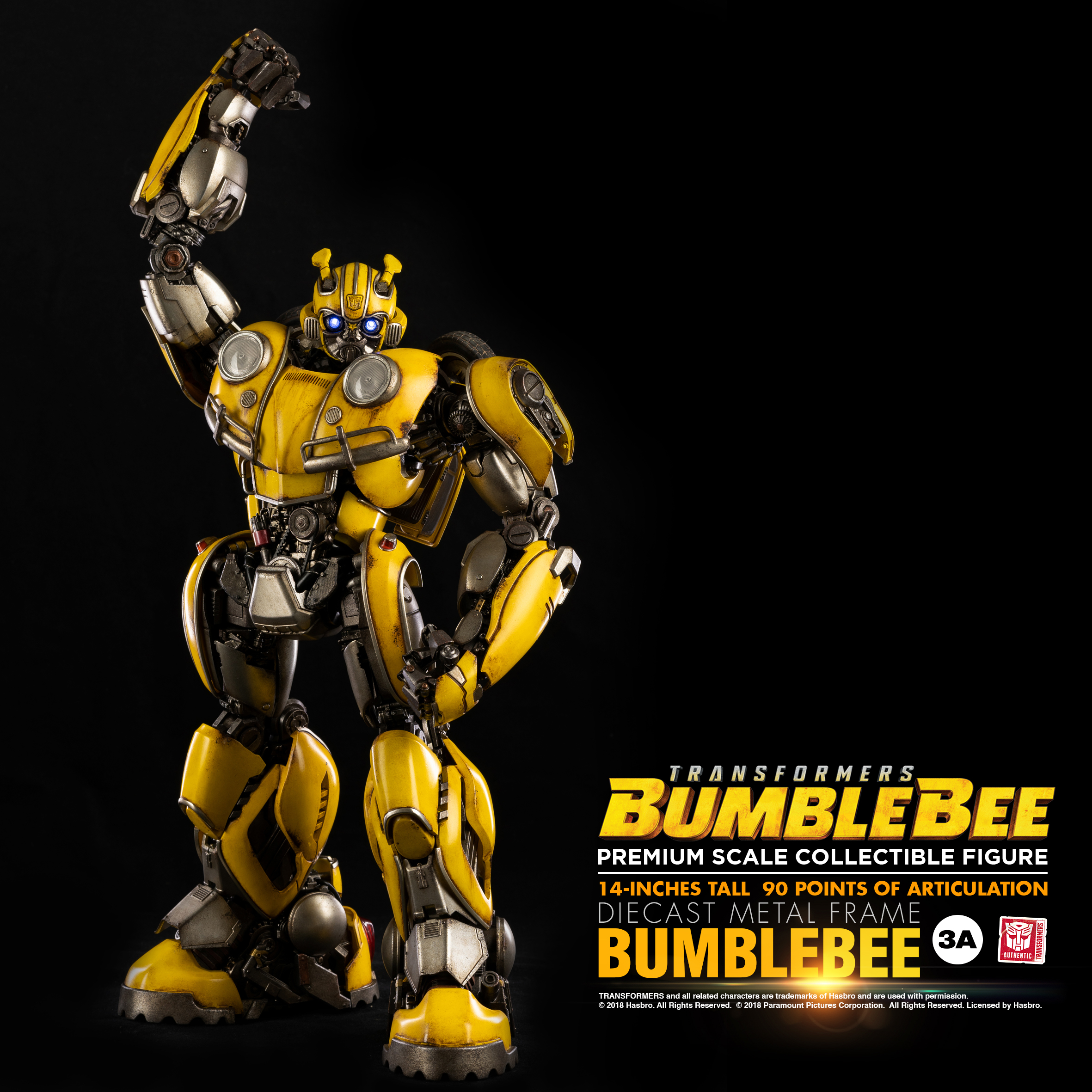 Hasbro x 3a bumblebee movie bumblebee premium scale action figure official images product - Images of bumblebee from transformers ...