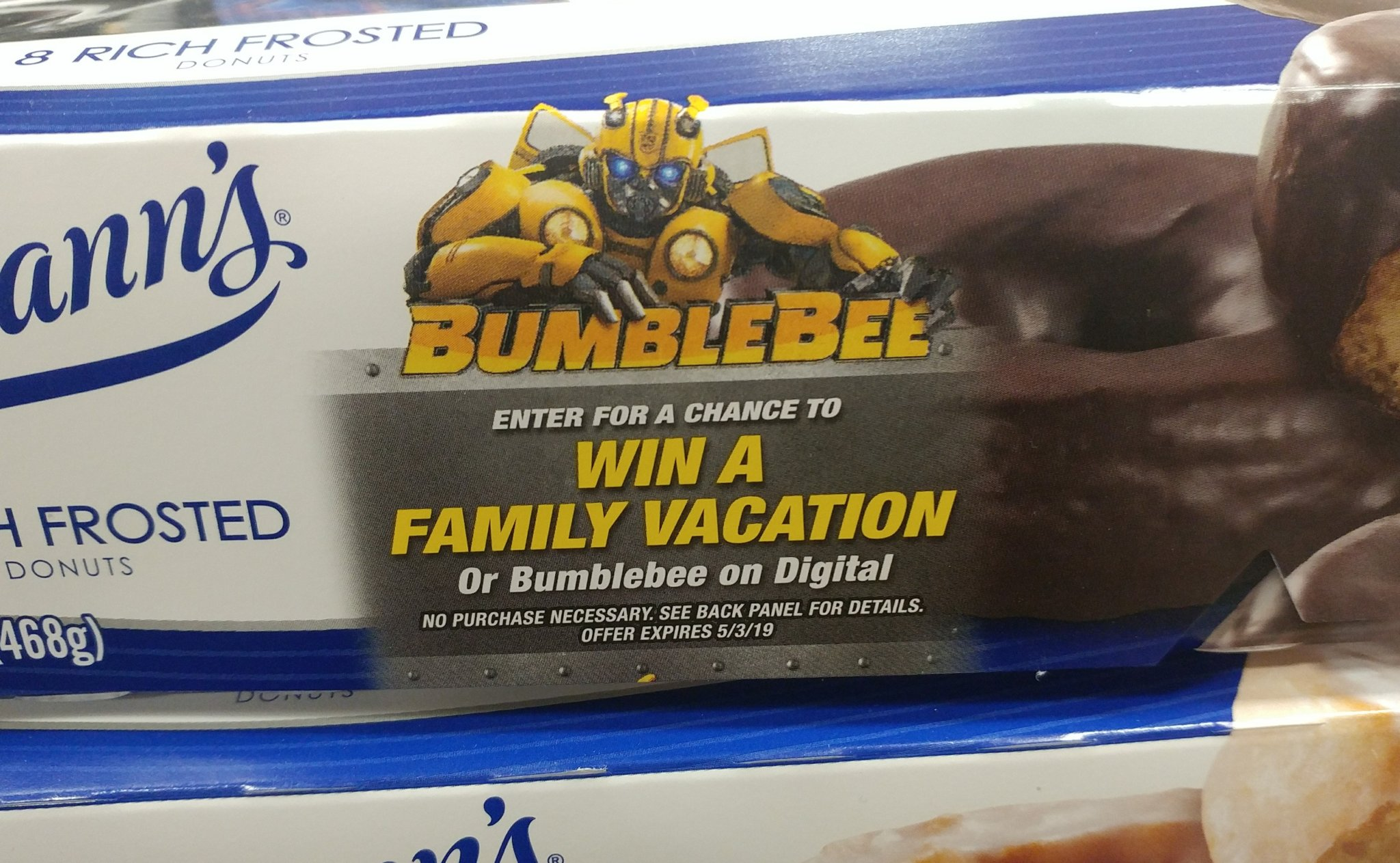 Entenmann's Donuts & Bumblebee
