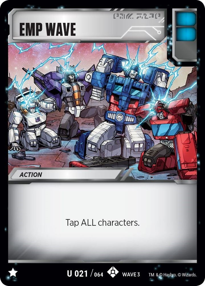 3 of Each Transformers TCG Wave 3 Play Set of Common /& Uncommon Battle Cards