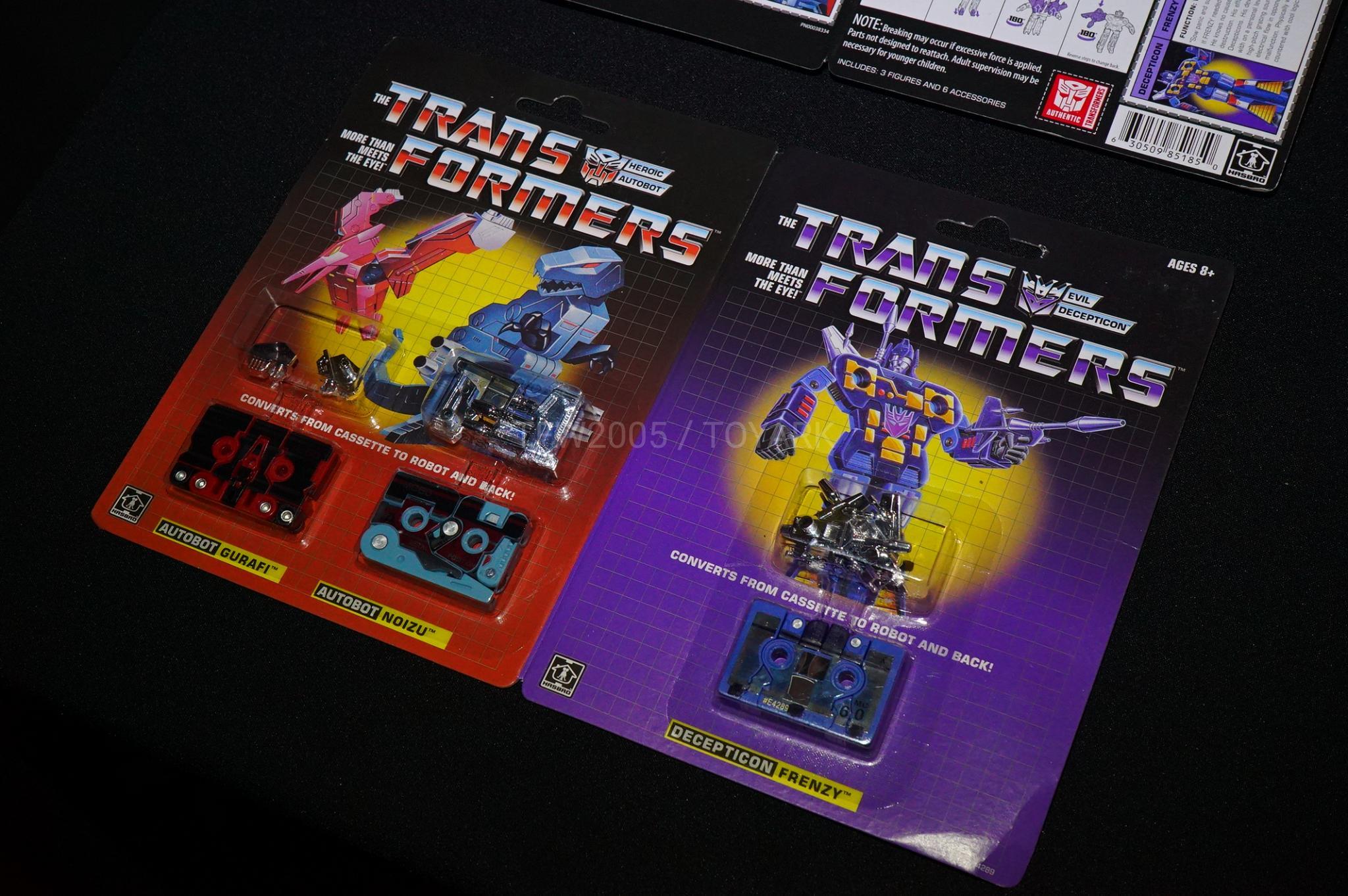 New transformers Vintage G1 Mini-Cassettes 3 Pack Gurafi+Noizu+Decepticon Frenzy