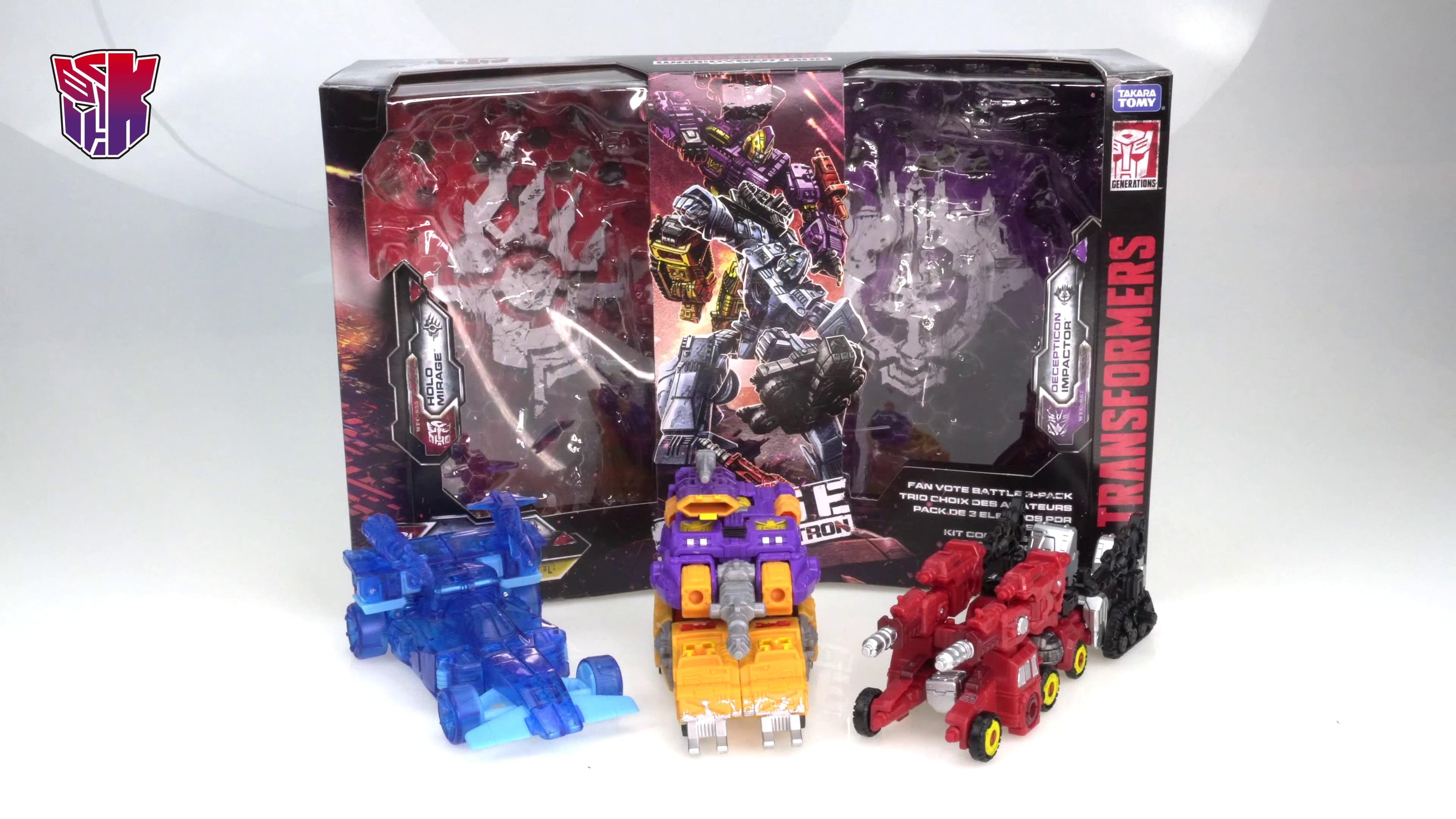 Transformers War For Cybertron Siege Fan Vote Battle 3-Pack New Sealed