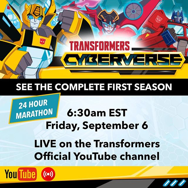 Transformers Cyberverse Season 1 Marathon This September