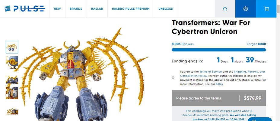 War for Cybertron Unicron Funded - Largest Transformer Ever To Be Released In 2021! We Did It!