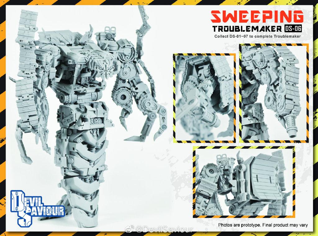 Pre-order Transformer Bombusbee Devil Saviour DS-06 Sweeping Rampag Troublemaker