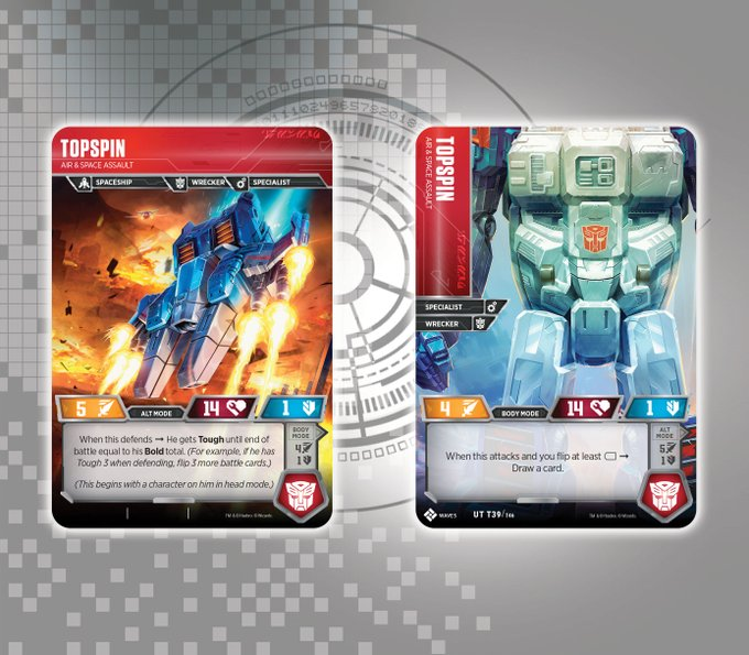 transformers trading card game introduces two more titan