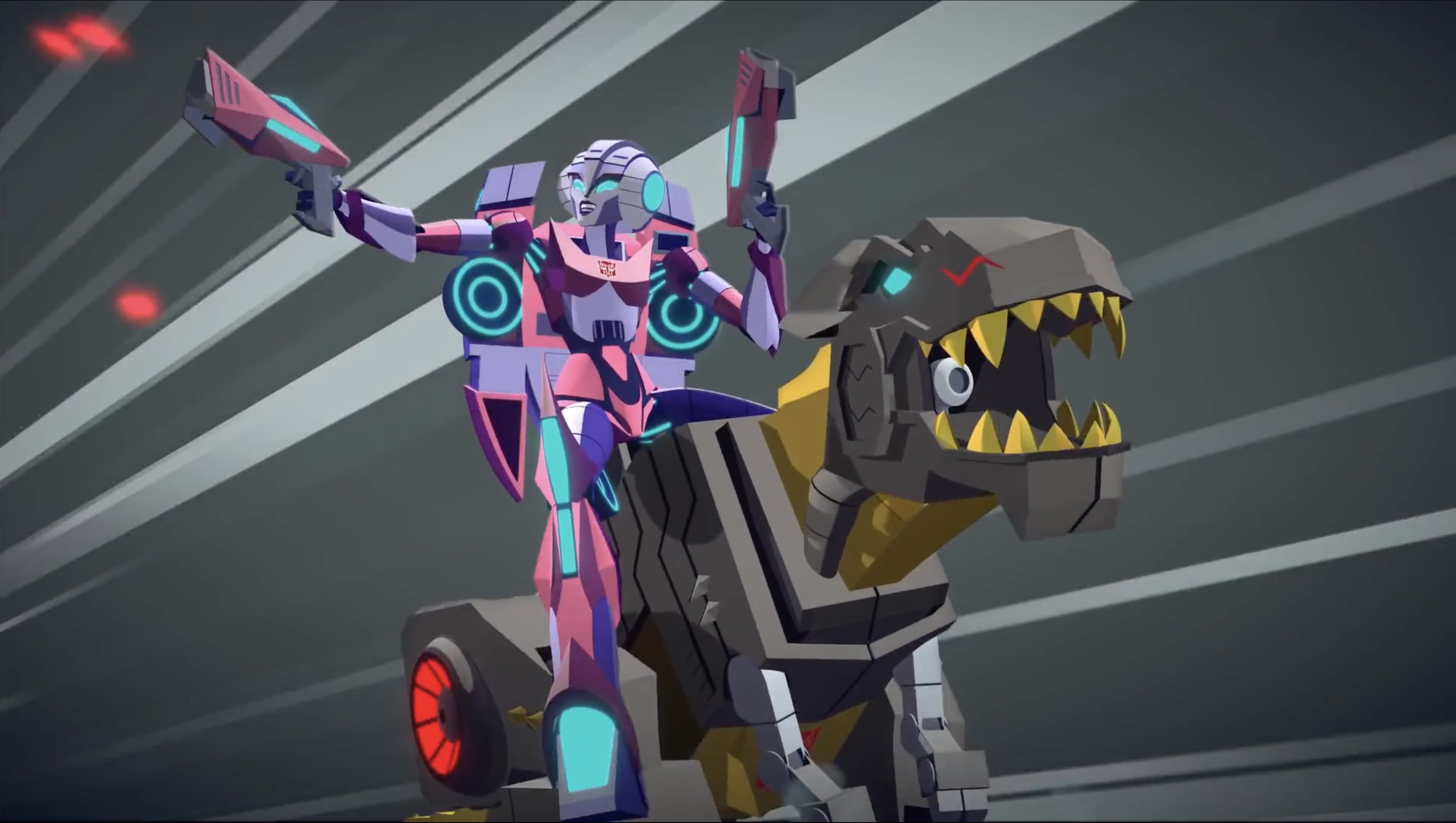 Transformers Cyberverse Grimlock and Arcee